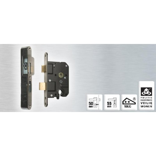 NEMEF VEILIGHEIDSLOT SET 4119/27-50MM + VS 4004 LINKS/RECHTS
