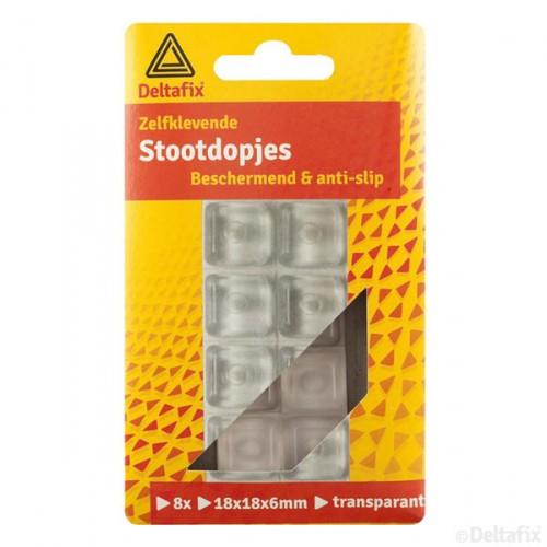 STOOTDOPJES TRANSP. 18X18X6MM 8 ST