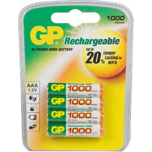 GP100 AAAH 950 MAH BLS. 4ST.