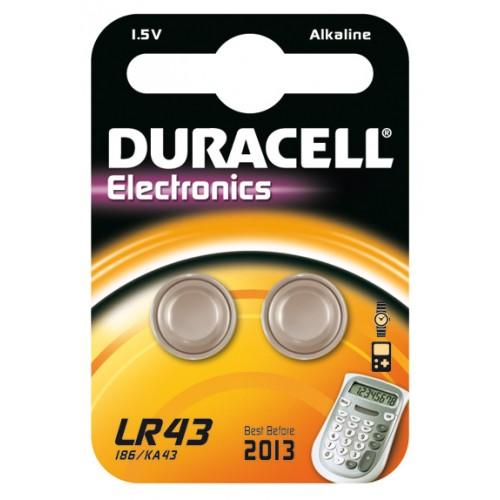 DURACELL LR43 ALKALINE 1,5 VOLT BP2