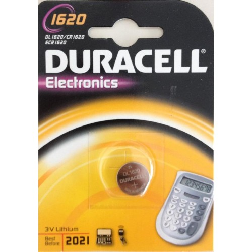 DURACELL 1620/CR1620 LITHIUM 3 VOLT BP1