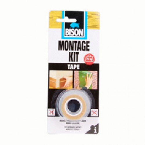 MONTAGEKIT DIRECT GRIP TAPE 1,5M X 19MM BISON