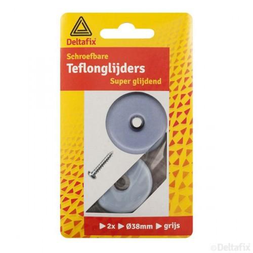 TEFLON GLIJDERS + SCHROEF GRIJS 38 MM 2 ST.