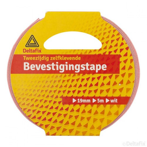 BEVESTIGINGSTAPE WIT 5M 19MM 1.0MM