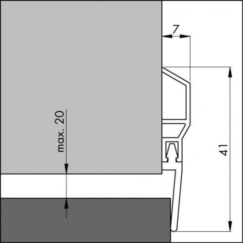 ELTON TOCHTSTRIP PDS BRUIN 1 METER DORPEL BASIC