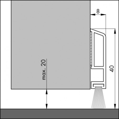ELTON TOCHTSTRIP PDS-B ZK BRUIN 1 METER DORPEL DECO/COMFORT