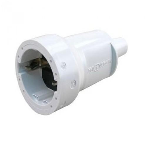 PVC CONTRA STEKKER WIT MET RANDAARDE