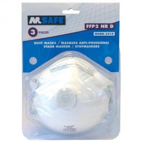 M-SAFE MASKER FFP2 VENTIEL TYPE 6210 3ST
