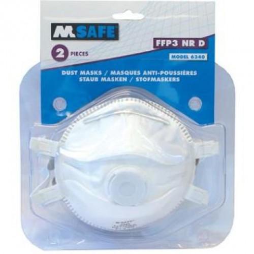 M-SAFE MASKER FFP3 VENTIEL TYPE 6340 2ST