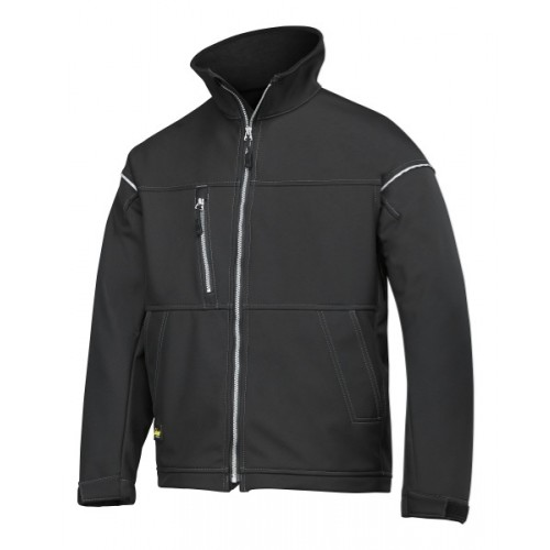 SOFT SHELL JACKET, ZWART (0400), XXL