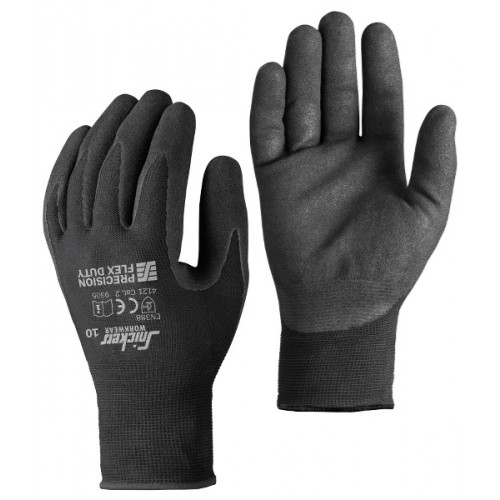 PRECISION FLEX DUTY GLOVES (PAAR), ZWART - ZWART (0404), 9