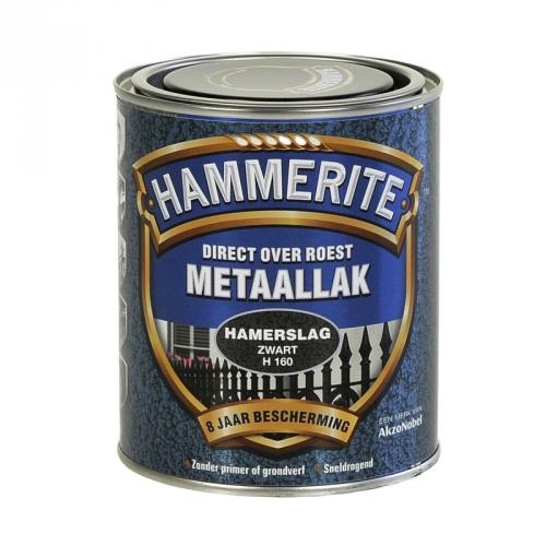 HAMMERITE HAMERSLAG ZWART 750ML