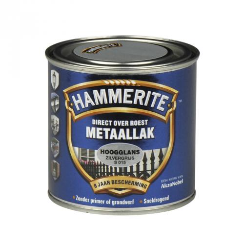 HAMMERITE HOOGGLANS ZILVER GRIJS 250ML