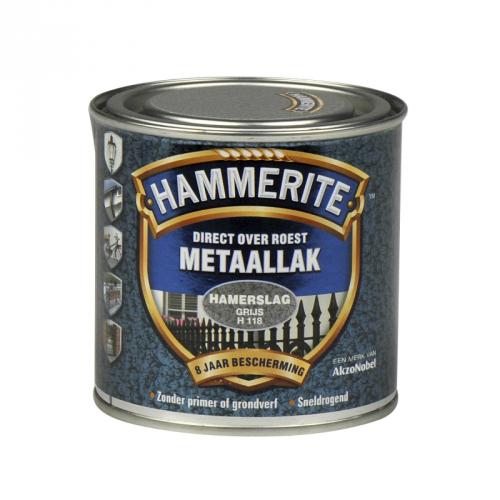 HAMMERITE HAMERSLAG GRIJS 250ML