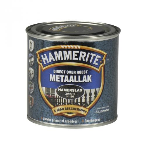 HAMMERITE HAMERSLAG ZWART 250ML