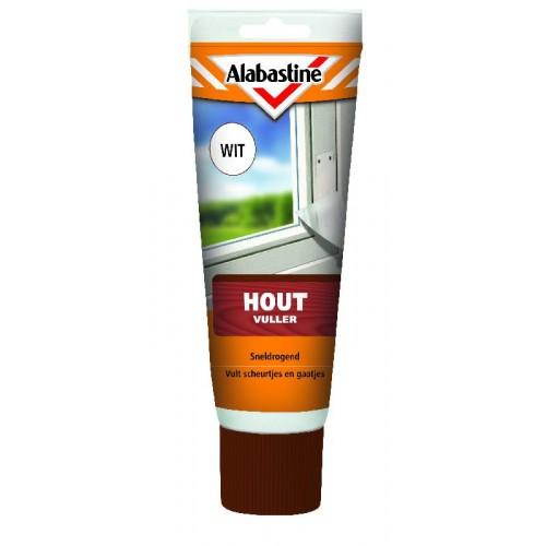 ALABASTINE HOUTVULLER WIT TUBE 330GR
