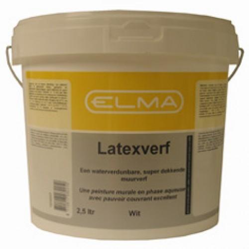 ELMA LATEXVERF WIT 2.5 LITER
