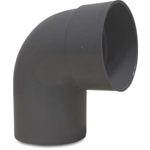 PVC BOCHT 87° 75 MM LIJMMOF X SPIE GRIJS KOMO