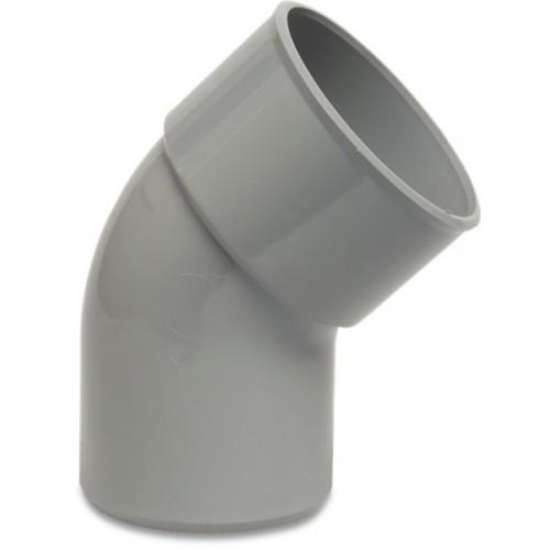 PVC BOCHT 45° 75 MM LIJMMOF X SPIE GRIJS KOMO