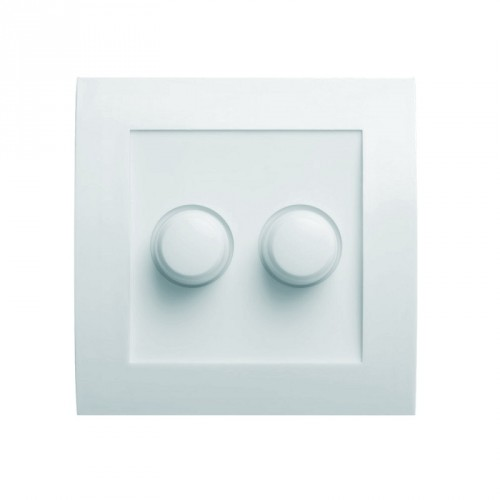 LED DUO / SERIE DIMMER INBOUW 2X 3-50W LED WIT