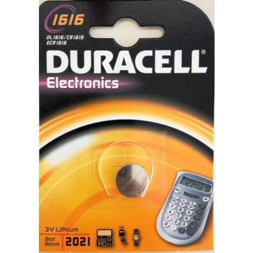DURACELL 1616/CR1616 LITHIUM 3 VOLT BP1