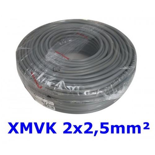 XMVK 2 X 2.5 RING GRIJS PER METER