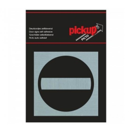 ROUTE ALU PICTO 80X80 MM VERBODEN TOEGANG