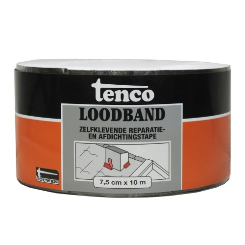TENCO LOODBAND ZELFKLEVEND 7,5 CM X 10 MTR
