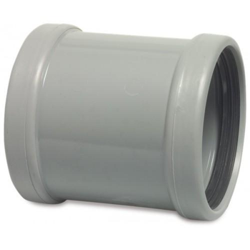 REPARATIESOK PVC-U 125 MM SN4 MANCHET DN125 GRIJS KOMO/BENOR