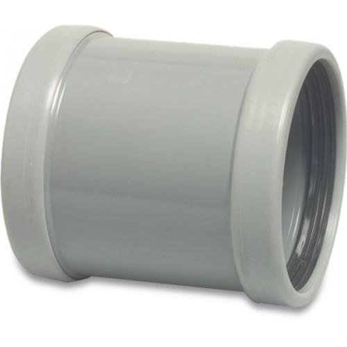 SOK PVC-U 125 MM SN4 MANCHET DN125 GRIJS KOMO/BENOR