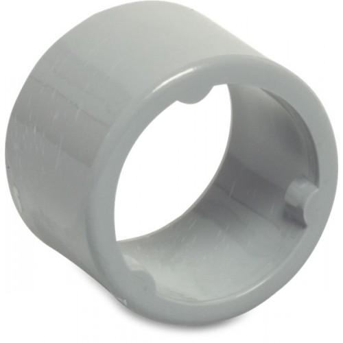 VERLOOPRING PVC-U 80 MM X 100 MM LIJMMOF X SPIE GRIJS KOMO