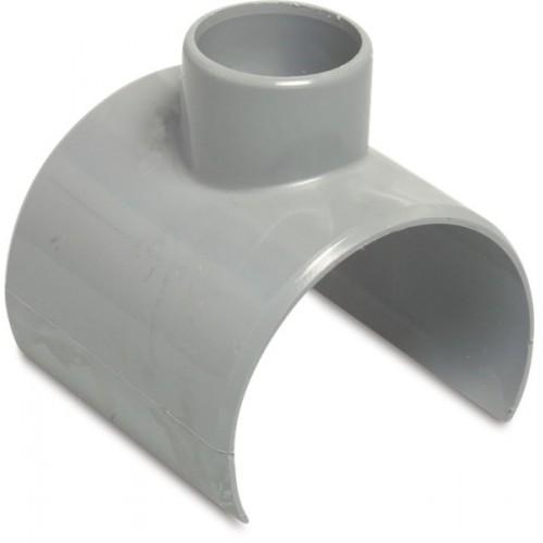 KLEMZADEL PVC-U 80/75 MM X 50 MM LIJMZADEL X LIJMMOF GRIJS KOMO