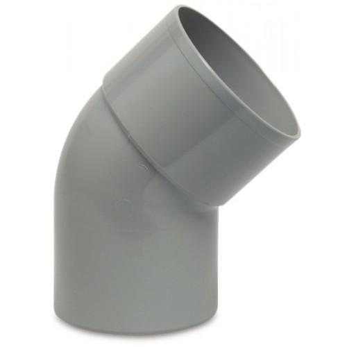 BOCHT 45° PVC-U 70 MM LIJMMOF X SPIE GRIJS