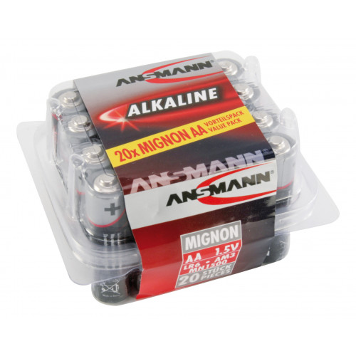 ALKALINE BATTERIJEN BIG FIVE ALKALINE BATTERIJ MIGNON AA / LR6 20 PCS.