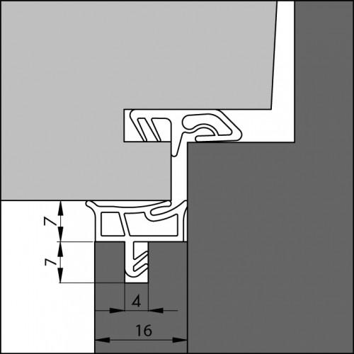 TOCHTPROFIEL/AANSLAGPROFIEL AANSLAGPROFIEL 3451 AC