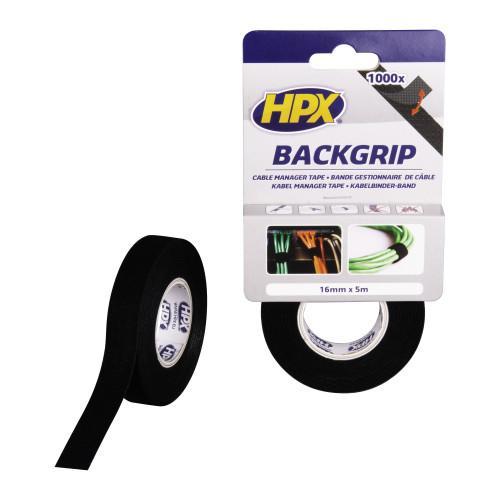 BACK GRIP - ZWART 16MM X 5M