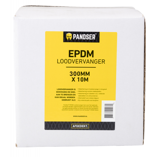 PANDSER® LOODVERVANGER 0,30 X 10 M ZWART