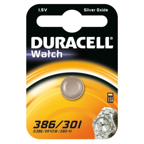 DURACELL 386/301/SR43 SILVER 1,5 VOLT BP1